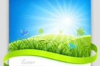 Free vector Vector background  Blue Nature Vector Background
