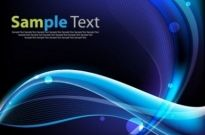 Free vector Vector background  Blue Waves Vector Background Art