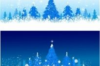 Blue winter Christmas trees Free vector 26.35MB