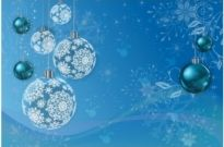 Free vector Vector Christmas  Blue Winter Holiday Background
