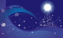 Free vector Vector Christmas  blue xmas background