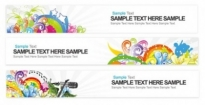 Free vector Vector banner  bright banner vector