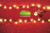 Free vector Vector background  bright christmas lights background 01 vector