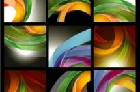 Free vector Vector background  Brilliant dynamic ribbon background