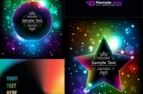 Brilliant glow color effects vector Free vector 10.53MB