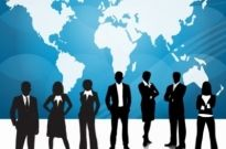 Free vector Vector people  Business People Team With World Map