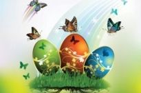 Free vector Vector misc  butterflies and decorated easter egg cards 01 vector