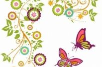 Free vector Vector flower  Butterfly and Branch