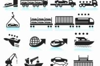 Free vector Vector icon  Car Shipping Delivery icon set