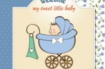 Free vector Vector cartoon  cartoon baby card 03 vector