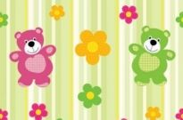 Free vector Vector background  Cartoon bear pattern Vector Background
