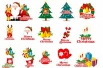 Cartoon christmas element vector Free vector 6.93MB