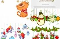 Free vector Vector cartoon  cartoon christmas ornaments vector