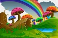 Free vector Vector background  Cartoon colorful mushrooms Vector Background