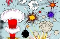 Free vector Vector pattern  cartoon explosion pattern 02 vector