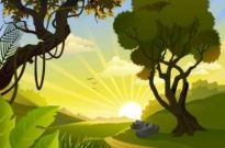 Free vector Vector background  Cartoon landscape vector background