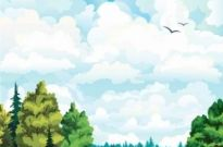Free vector Vector background  Cartoon Landscapes Vector Background
