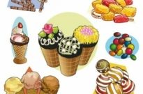 Free vector Vector cartoon  cartoon pastries 02 vector