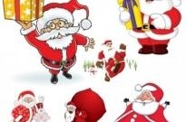 Free vector Vector cartoon  cartoon santa claus vector