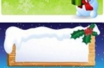 Free vector Vector banner  cartoon snowman banner vector