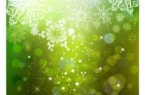 Free vector Vector background  Cascading Snowflakes on Green Background