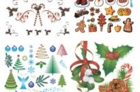 Free vector Vector Christmas  christmas a group of vector elements vector