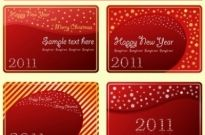 Free vector Vector Christmas  christmas and new year 2011 card vector