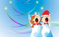 Free vector Vector Christmas  Christmas Angels Free Vector Design