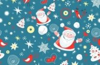 Free vector Vector background  Christmas background pattern