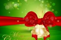 Free vector Vector background  Christmas Background with Christmas Bells