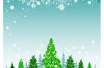 Free vector Vector Christmas  Christmas background with green tree