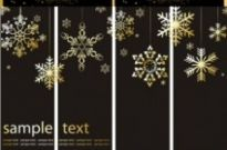 Free vector Vector background  christmas background with snowflakes ornaments vector