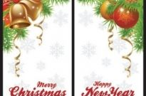 Free vector Vector Christmas  christmas bells and beautiful hanging ball vector