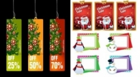 Free vector Vector Christmas  christmas business promotional template vector