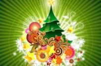 Free vector Vector background  Christmas Card Green Backgrounds
