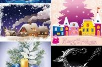 Free vector Vector background  Christmas cartoon snow background