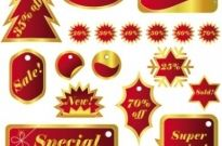 Free vector Vector Christmas  christmas celebration labels