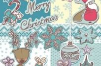 Free vector Vector Christmas  christmas decoration stickers 01 vector