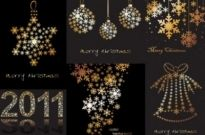 Free vector Vector Christmas  christmas decorations snowflakes composed of vector