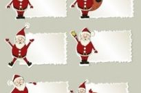 Free vector Vector Christmas  christmas elements stickers 03 vector