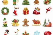 Free vector Vector icon  Christmas Elements Vector Collection