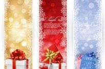 Free vector Vector background  Christmas Gift banner background vector graphics