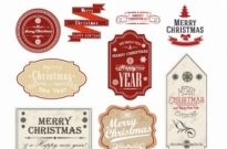 Free vector Vector Christmas  Christmas Gift Tags and Labels