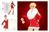 Free vector Vector people  christmas girl vector