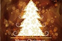 Free vector Vector background  christmas gorgeous brown background 03 vector