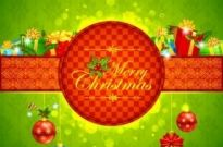 Free vector Vector background  Christmas Green background
