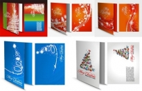 Christmas greeting card template vector Free vector 7.57MB