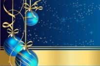 Free vector Vector misc  christmas greeting with blue balls