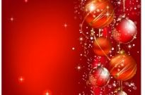Free vector Vector Christmas  Christmas greeting with red balls