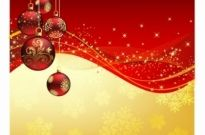Free vector Vector misc  christmas greeting with red balls
